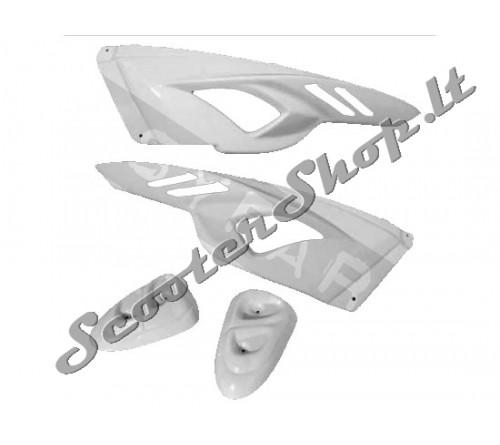 Slider BCD baltas šoninių plastiku komplektas