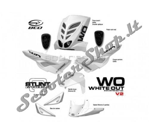 Slider BCD baltas plastikų komplektas