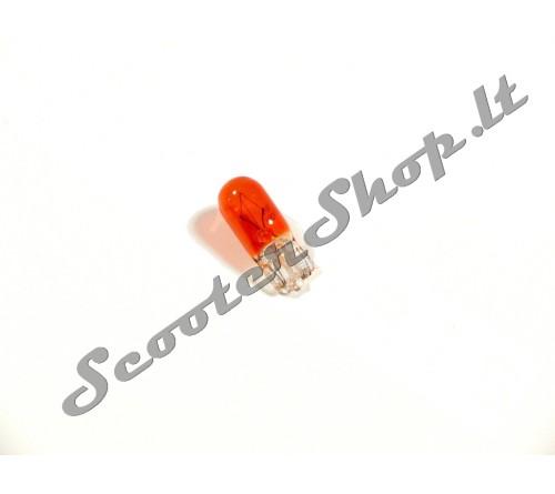 TNT oranžinė lemputė becokolinė 12v-3w