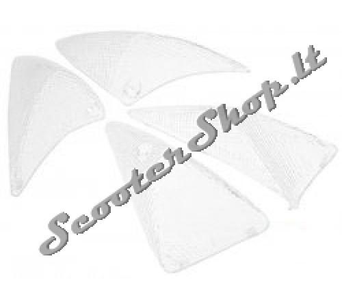 Peugeot Speedfight 1+2 posūkių stikliukai balti