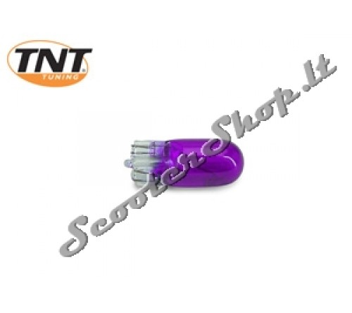 TNT violetinė lemputė becokolinė T10 12v-3w