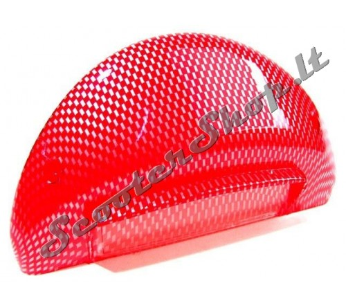 Aerox galinis stiklas STR8 Red Carbon