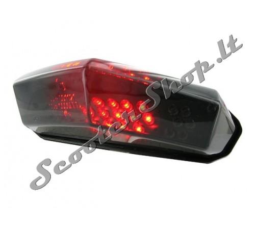 Galinė juoda lempa LED universali (su posūkiais)